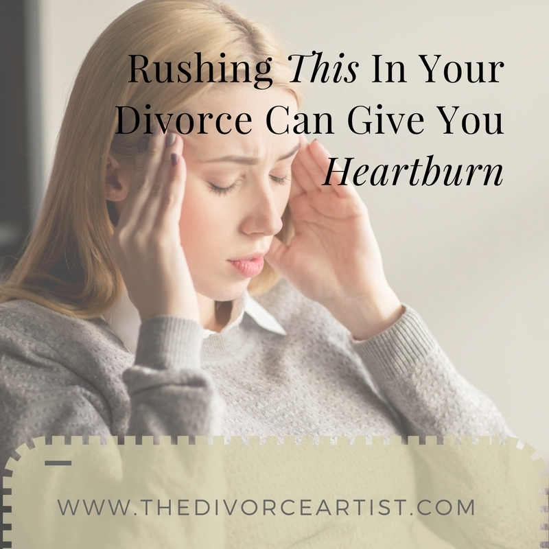 rushing divorce